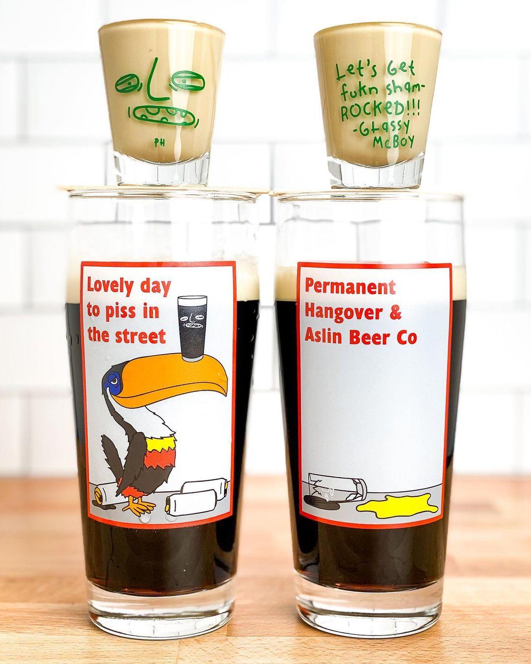 permanent hangover instagram beer glasses